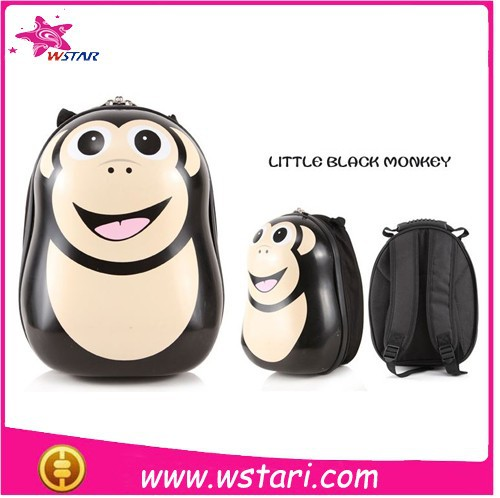 2015 New Arrived ABS eggshell anime school bag and backpack Little Black Monkey for sale