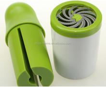 High quality Herb Cutter manual herb mill / stainless steel herb grinder / pepper mill