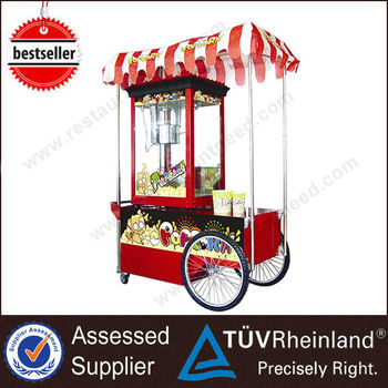 Hot Sale Professional Fast Food Electric With Wheels machine popcorn