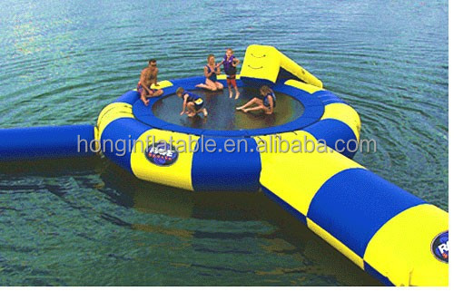 QH-WT-4-inflatable floating trampoline,inflatable water toys