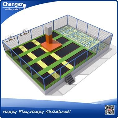 China factory CE standard ISO9001 quality control rectangular trampoline