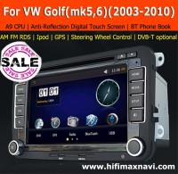 Hifimax A9 fast CPU VW Golf V car gps navigation system Volkswagen Golf 5 car radio gps VW golf 6 car multimedia player