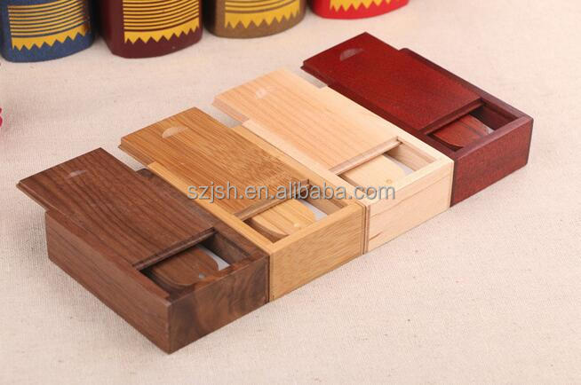 Wedding gift wooden USB flash drive with box, custom natural wooden usb memory stick 4gb 8gb 16gb