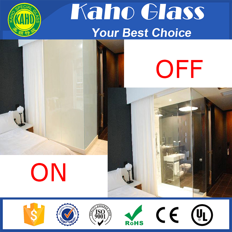 Factory price for 5+5mm 6+6mm tempered laminated smart glass for bathroom partition