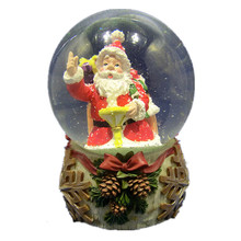 Resin Santa Claus Christmas Snow Globe