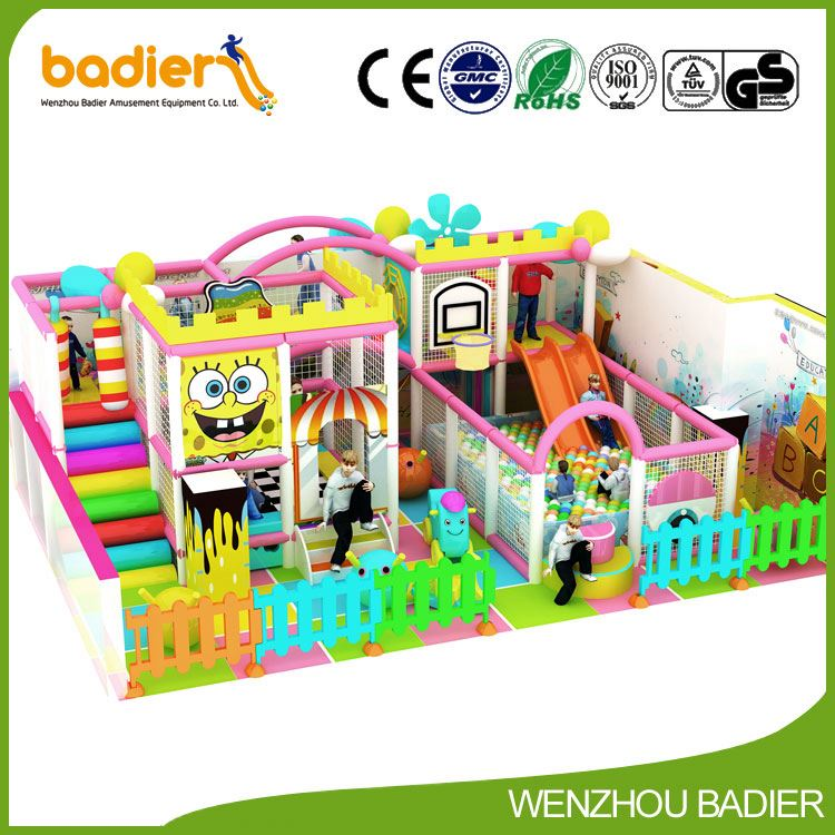 Badier factory OEM design kids amusement center home playhouse with good reputation
