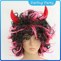 popular fashion festival red halloween OX horns wigs