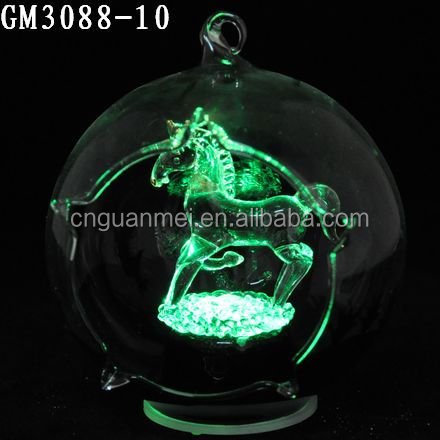 Led open glass ball for sale