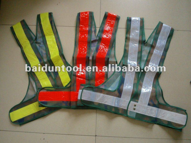 camouflage mesh safety vest in different colors