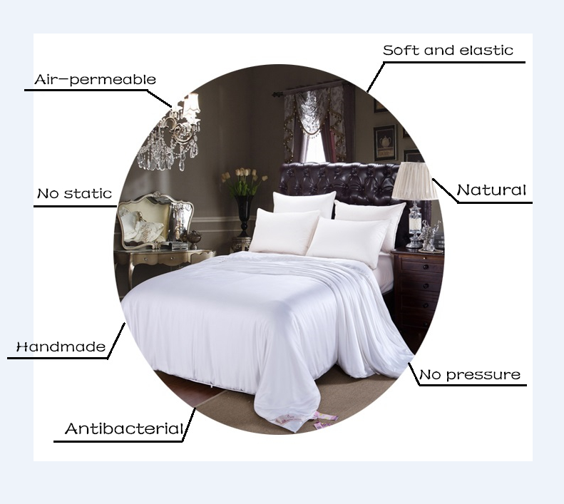 Silk mattress pad/protecter Pure silk filled bed cover China Supplier