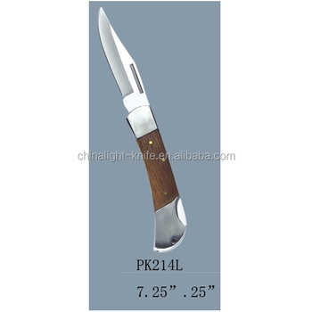 popular foling knife with wood handle