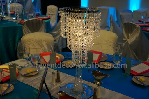 wholesale plastic chandelier for decoration,table top chandelier centerpieces for wedding