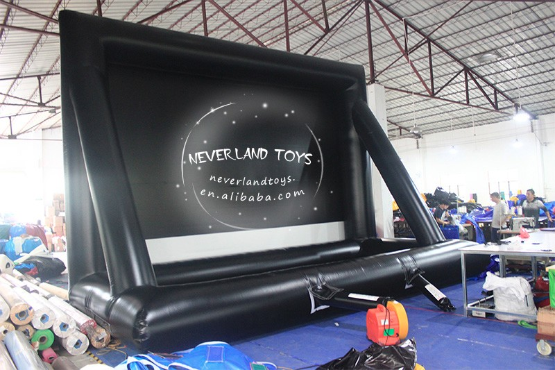 Neverland Toys outdoor inflatable movie screen for sale