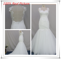 Christmas Mermaid Tulle Lace Applique Wedding Dress Real Sample, Suzhou Wedding Dress 2015