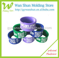 2013 hot selling!!! fashionable silicone slap bracelet/pop customized silicone slap bracelet