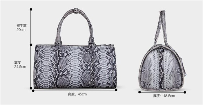 Updated new fashion mens genuine python snake skin leather weekend travel duffle bag_6