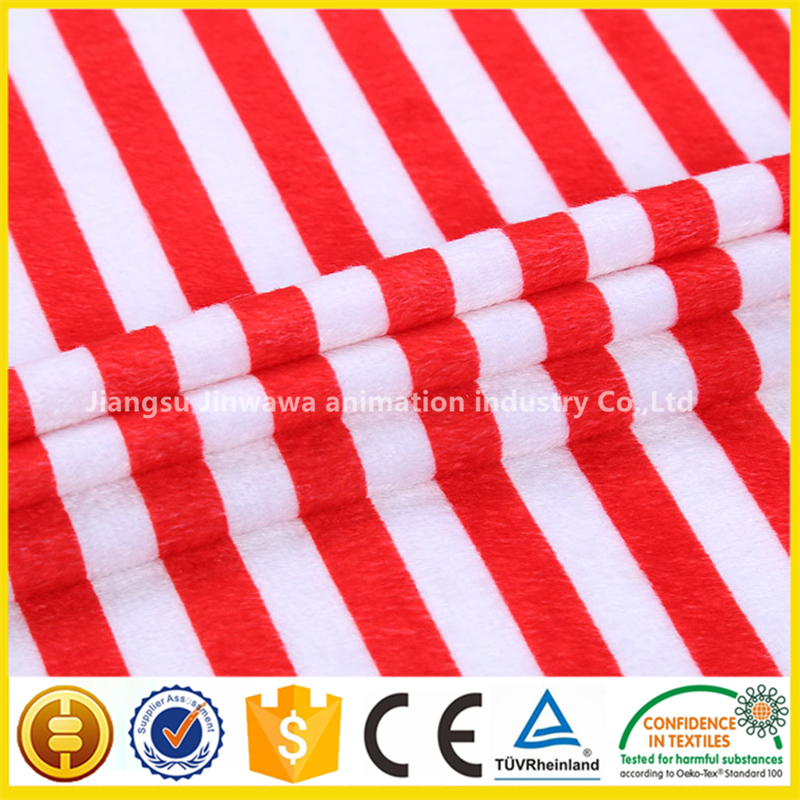 Hot sale new design 100% polyester velboa plush fabric china quality supplier