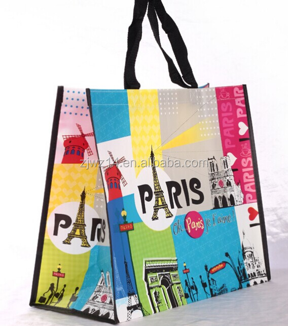recyclable polypropylene shopping laminated used pp woven bag