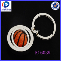 High quality basketball sport keychain with round ring