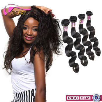 XBL hair 6A grade Brazilian 100 real human remy hair extensions
