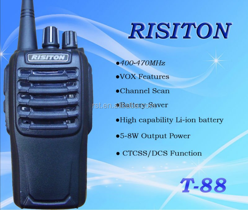 400-470MHz 5-8W CTCSS DCS RISITON T88 walkie talkie VHF UHF handheld two way radio