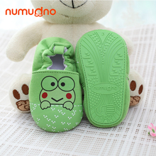 New arrival green frog soft cotton boy girl baby shoes learn to walk spring autumn kids shoes infant shoes