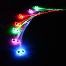 Glow party led fashion light up plastic flash LED hair braids glowing classic toys decorative party mask