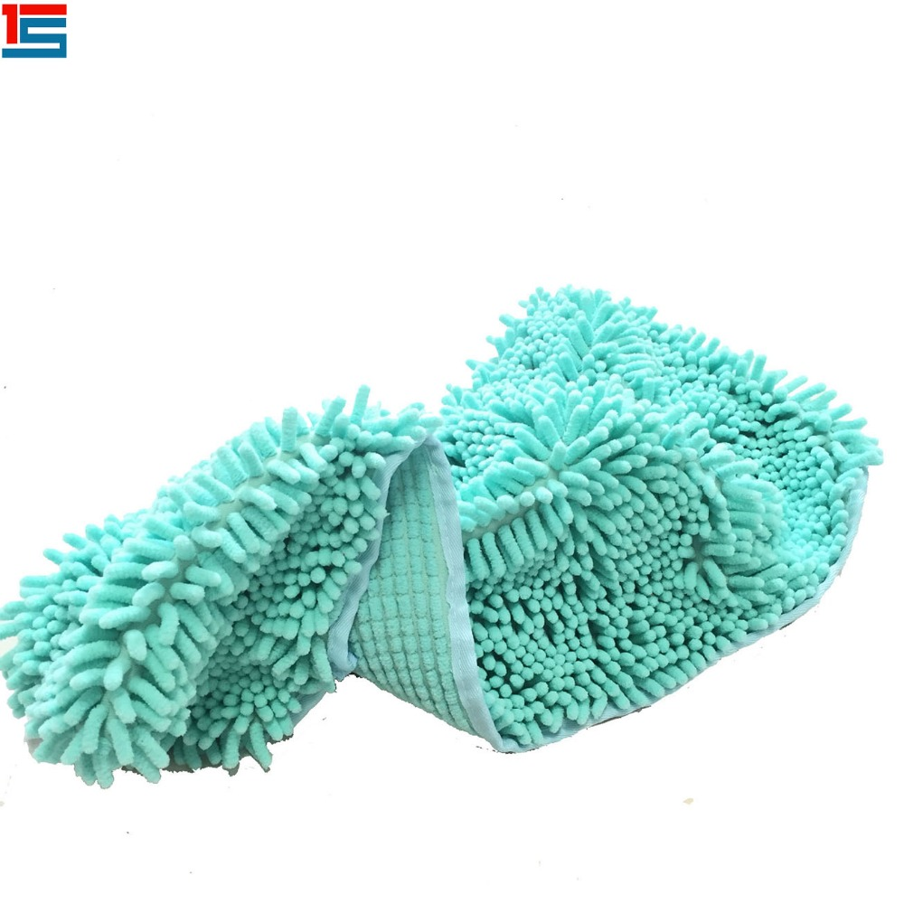 Microfiber chenille cat dog pet bath washing drying towel , absorbent pet wash cloth
