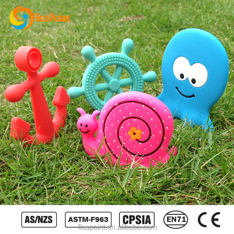 Baby Teether Manufacturer Bulk Silicone Baby Teething Teether Toy