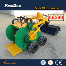 Loader with broom sweeper, sweeper attachment for loader