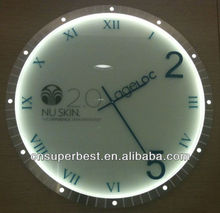 Hot sale round transparent acrylic wall clock