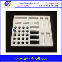 supply cheap white eva foam die cut hole, die cut eva hole products packing roll for outdoor