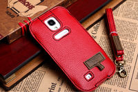 Factory price genuine leather pouch case for samsung galaxy s4 i9500 case
