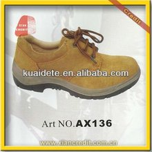new style leather steel toe safety working shoes