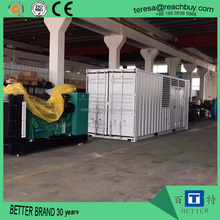 Low price good performance Methane Bio gas generator set with silent container type for biogas plant