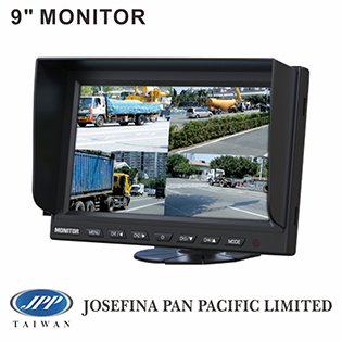 "MQ-CM9010MQ, 9"" car quad monitor, 9"" LCD quad monitor, 9"" quad split monitor, car backup monitor, dashboard monitor"