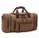 Oversized Canvas Travel Tote Luggage Weekend Duffel Bag