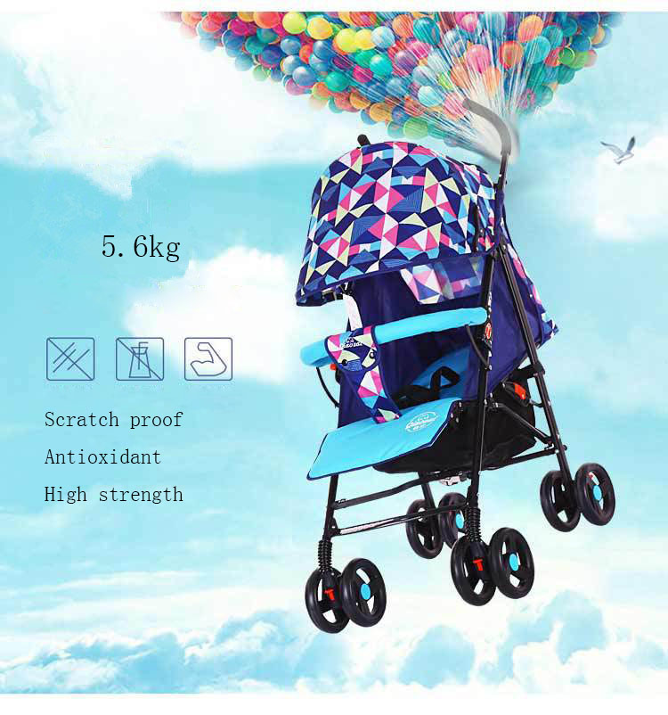 2017 Compact Lightweight Baby Buggy Fashion 3 In 1 Baby Stroller