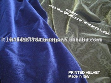 Italy Best Quality 100% Cotton Velvet Fabrics