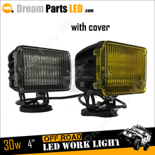 4inch 30w tractor, truck, harvester led working light with 12v 24v car led light spot and flood beam