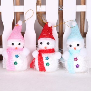 New design foam personalized christmas tree decorations xmas tree snowman