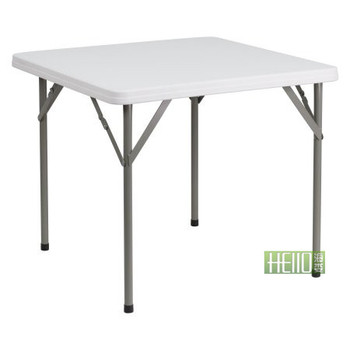 durable waterproof outdoor use fashion HL-F86 square plastic folding table