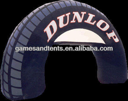 advertising inflatable tire arches logo printing F5018