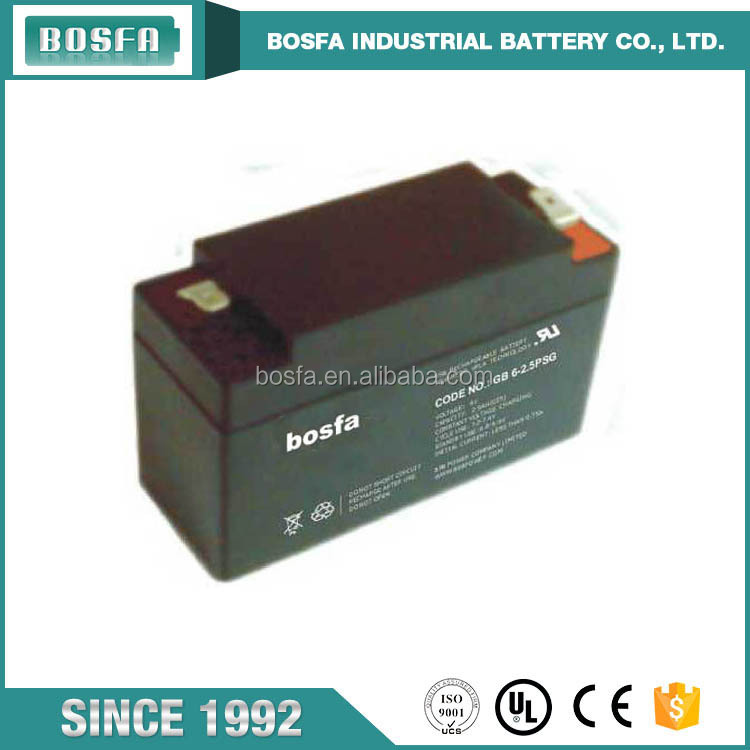GB6-2.5 rechargeable 6 v 2.5 ah dry ups marine valve regulated rechargeable battery