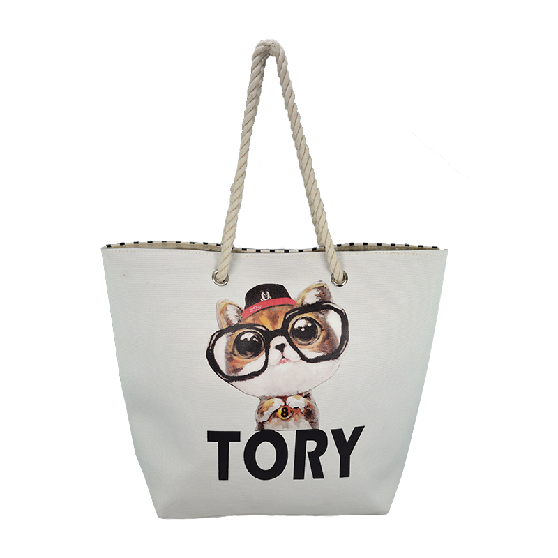 TOORY transfer printing straw beach bag for promotion