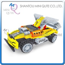 Mini Qute DIY electronic RC remote control racing cars vehicle action figure plastic building block educational toy NO.20108