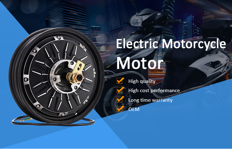 12 Inch 2000W-4000W 72V Powerful Brushless Electric Scooter Electric Hub Motor For Motorcycle