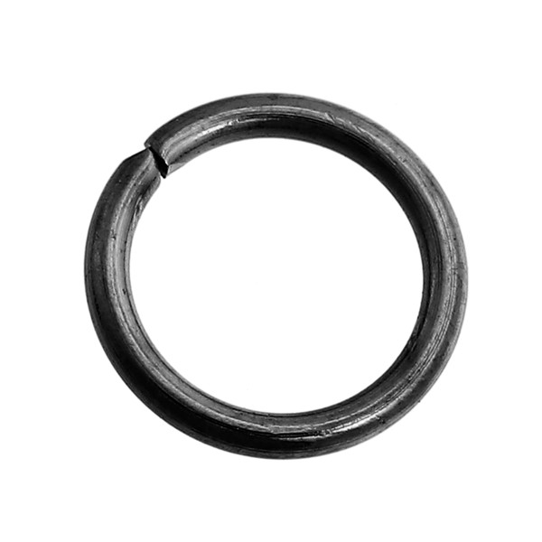 Jewelry Findings Round Gunmetal Stainless Steel Opened Jump Rings 8mm Dia