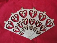 Set of 6 Wooden craft Fans birch plywood