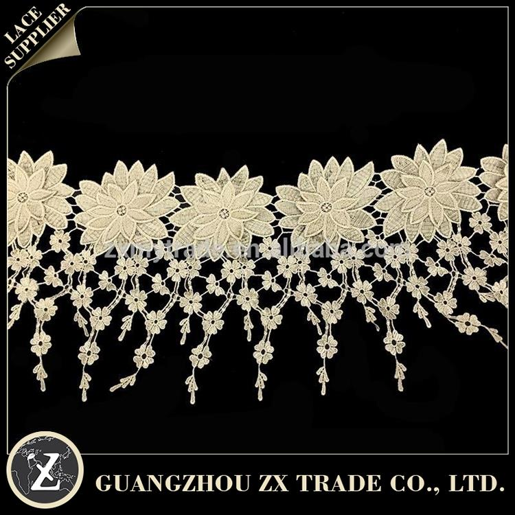 high quality guipure embroidery lace/ lace cotton fabric/ high end lace fabric